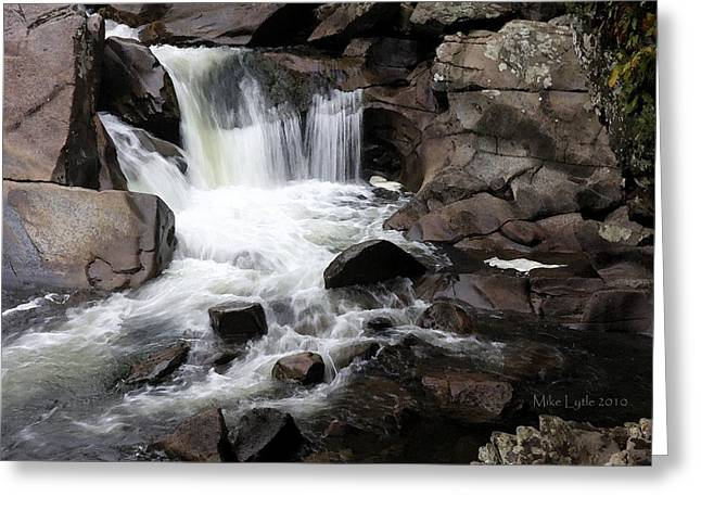 Tennessee River Mixed Media Greeting Cards - Small Falls 1 watercolor Greeting Card by Mike Lytle