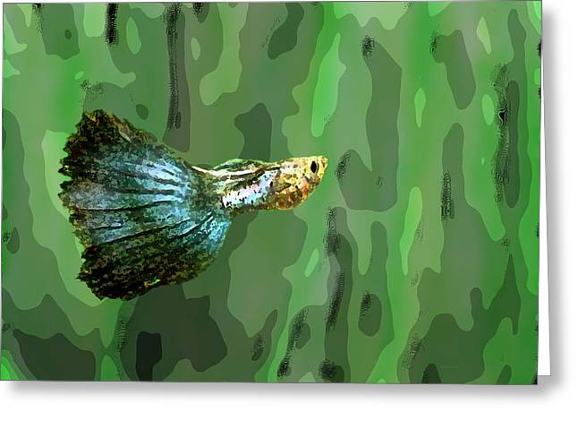 Tones Greeting Cards - Small Fish Art Greeting Card by Mario  Perez