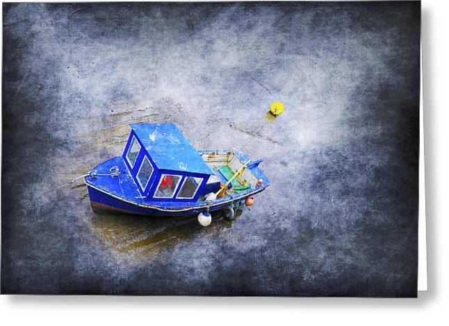 Flyer Digital Greeting Cards - Small Fisherman Boat Greeting Card by Svetlana Sewell