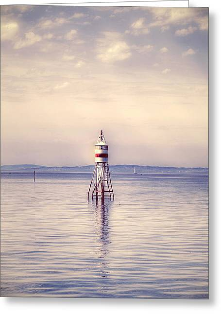 Lighthouse Tower Greeting Cards - Small Lighthouse Greeting Card by Joana Kruse