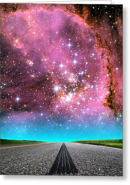 Composite Photo Greeting Cards - Small Magellanic Cloud Greeting Card by Larry Landolfi
