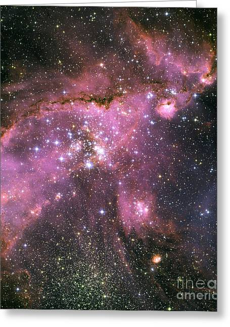 Small Magellanic Cloud Greeting Cards - Small Magellanic Cloud Greeting Card by Nasa