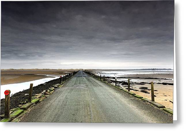 Short Sands Greeting Cards - Small Road Near A Beach Greeting Card by John Short