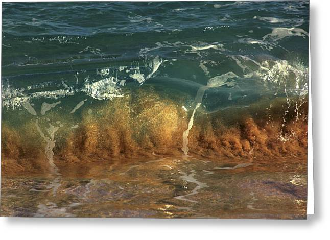 Vince Greeting Cards - Small shore wave Greeting Card by Vince Cavataio - Printscapes