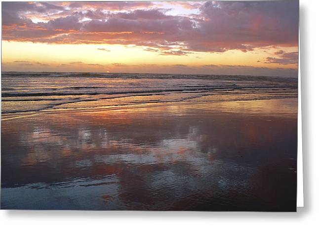 Sunset Reflecting In Water Greeting Cards - Small Sun Big Presence Greeting Card by Pamela Patch