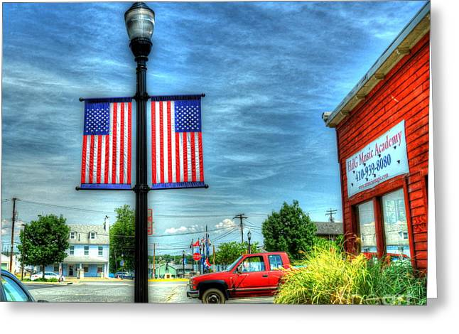 Maryland Flag Greeting Cards - Small Town America Greeting Card by Debbi Granruth