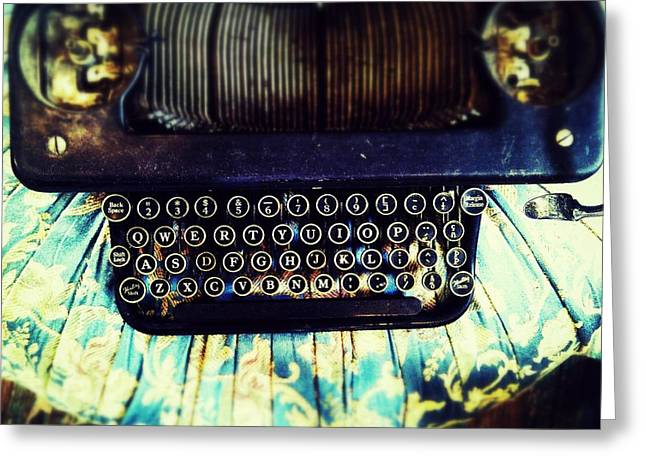 Typewriter Greeting Cards - Small type Greeting Card by Olivier Calas