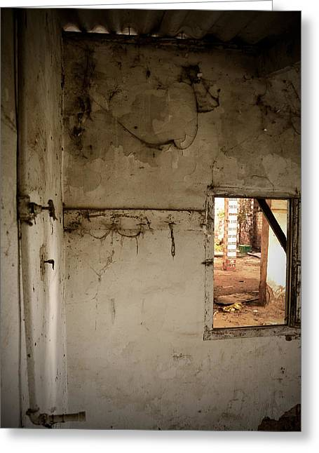 Abandoned Houses Greeting Cards - Small window in an abandoned kitchen Greeting Card by RicardMN Photography
