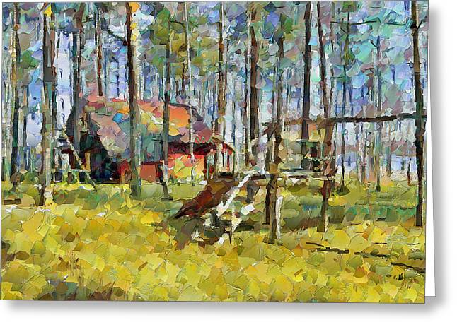 Lithuania Greeting Cards - Smalvos Park in Lithuania 2 Greeting Card by Yury Malkov