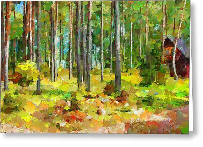 Lithuania Greeting Cards - Smalvos Park in Lithuania Greeting Card by Yury Malkov