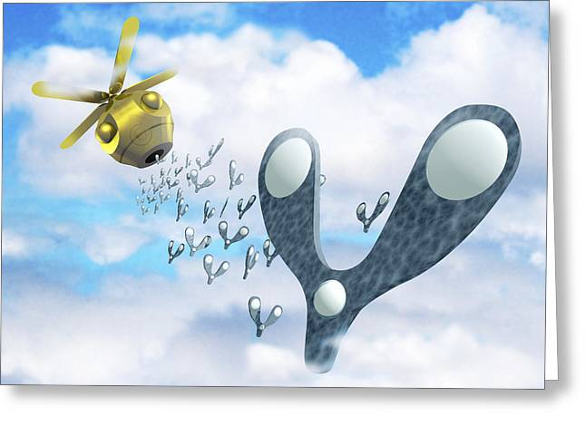 Micromechanics Greeting Cards - Smart Dust Nanotechnology Greeting Card by Victor Habbick Visions