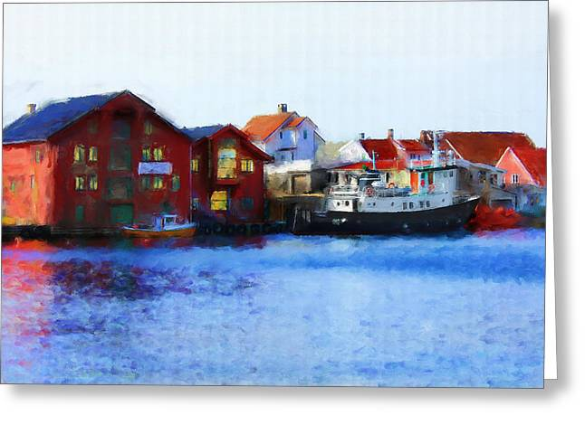 Haugesund Greeting Cards - Smeasund Haugesund Greeting Card by Michael Greenaway