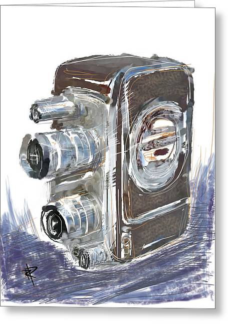 Old Camera Mixed Media Greeting Cards - Smile and Wave Greeting Card by Russell Pierce