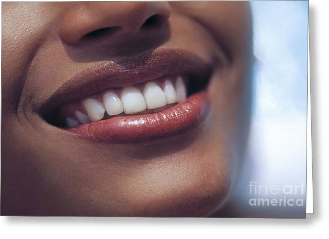 Toothy Smile Greeting Cards - Smile Greeting Card by Juan  Silva