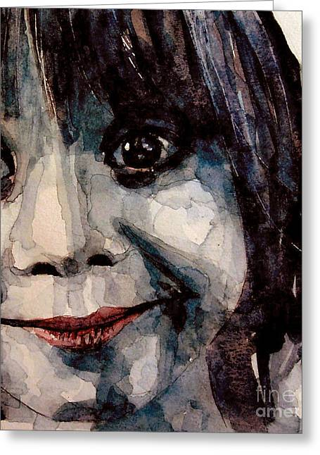 Girl Face Greeting Cards - Smile Greeting Card by Paul Lovering