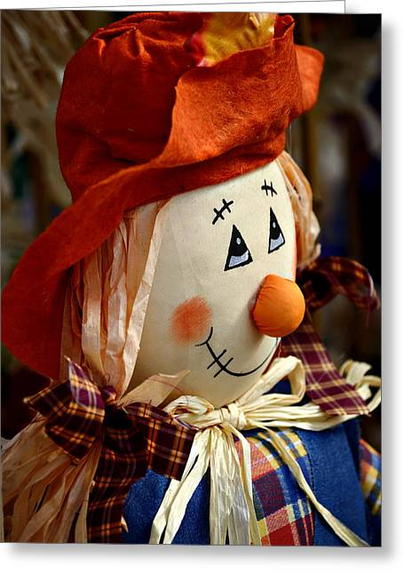 Button Nose Greeting Cards - Smiling Face 2 Greeting Card by Julie Palencia