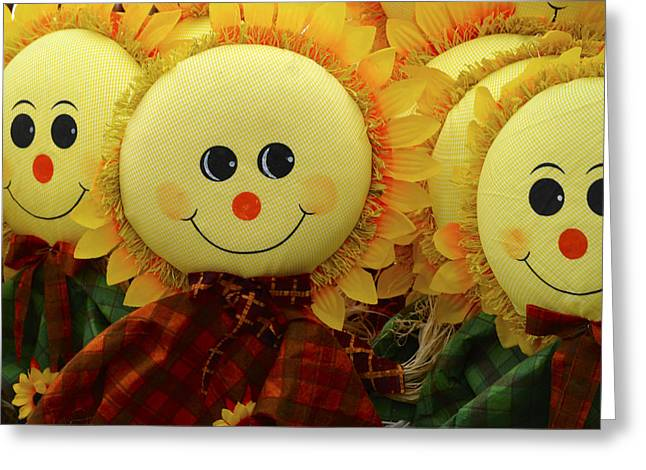 Cornfield Greeting Cards - Smiling Faces 5 Greeting Card by Julie Palencia