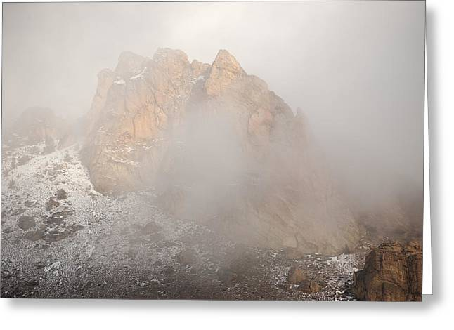 State Parks In Oregon Greeting Cards - Smith Rock Greeting Card by Veronica Busch