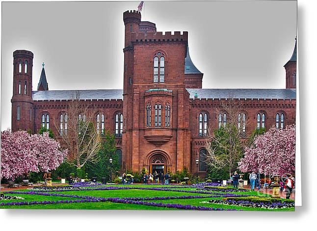 Smithsonian Greeting Cards - Smithsonian Castle Greeting Card by Jack Schultz