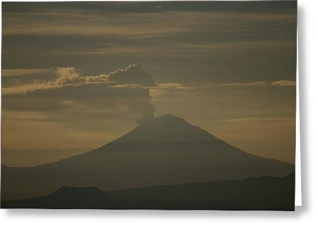 Puebla Greeting Cards - Smoke And Steam Billow Greeting Card by Raul Touzon
