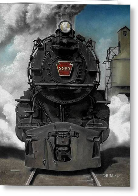 Trains Paintings Greeting Cards - Smoke and Steam Greeting Card by David Mittner