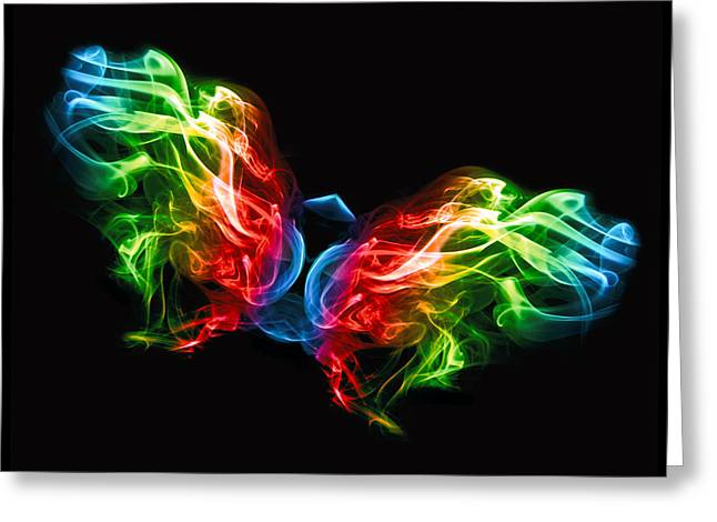 Creative Manipulation Greeting Cards - Smoke Butterfly Greeting Card by Alice Gosling