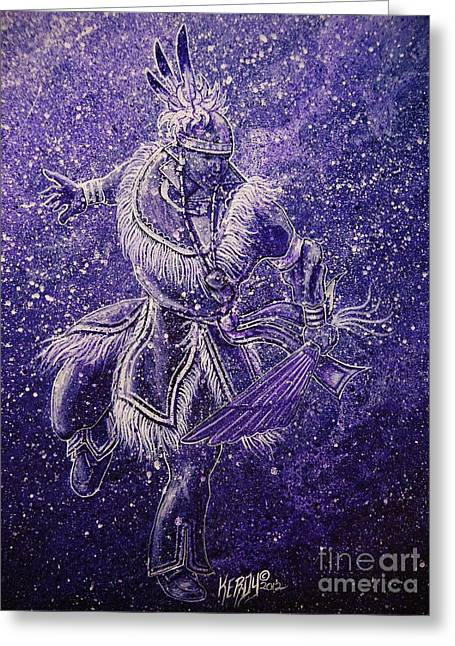 Wow Paintings Greeting Cards - Smoke Dancer Greeting Card by Kerdy Mitcho