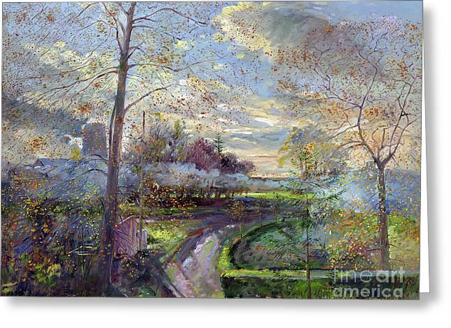Timothy Greeting Cards - Smoke Drift - Autumn Greeting Card by Timothy Easton