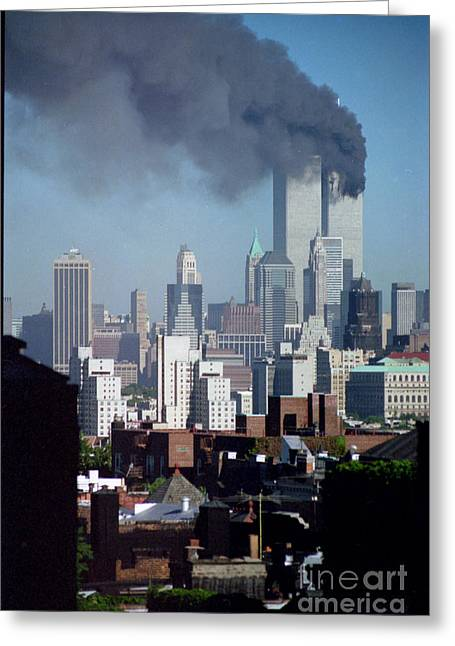 Wtc 11 Greeting Cards - Smoke From Tower Number 1 Greeting Card by Mark Gilman