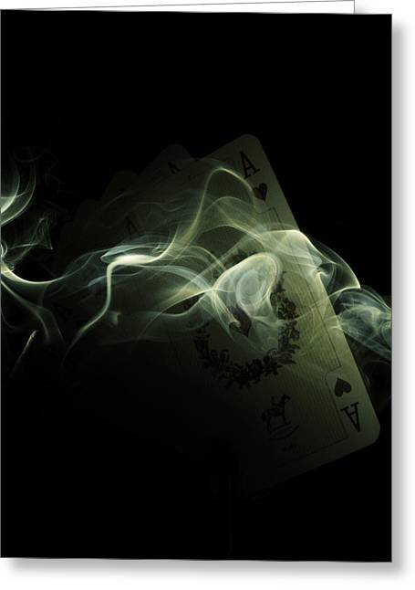 Chipped Greeting Cards - Smoke Greeting Card by Ivan Vukelic
