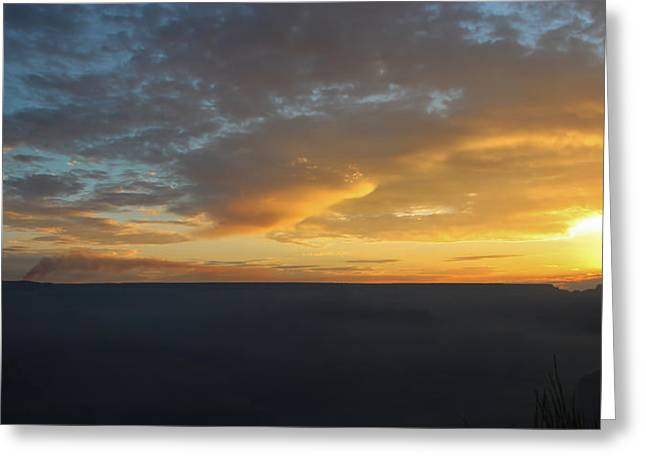 The Grand Canyon Greeting Cards - Smoke On The Horizon Greeting Card by Heidi Smith