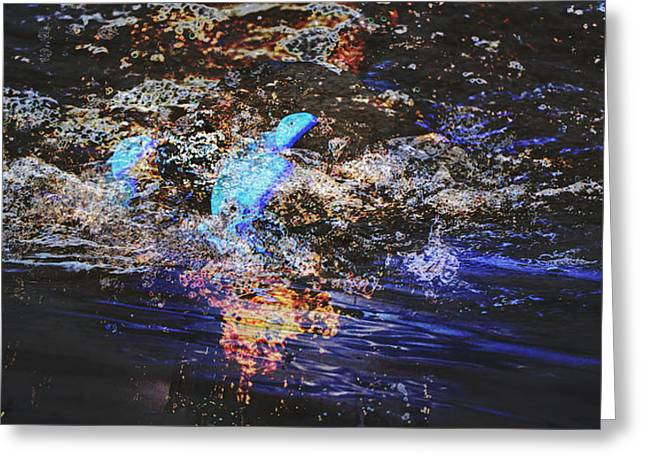 Merging Greeting Cards - Smoke on the Water Greeting Card by Kelly Reber