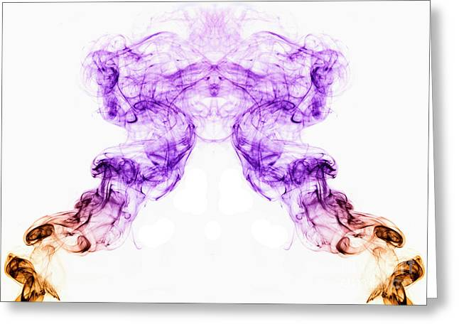 Richard Allen Greeting Cards - Smoke Picture Greeting Card by Richard Allen