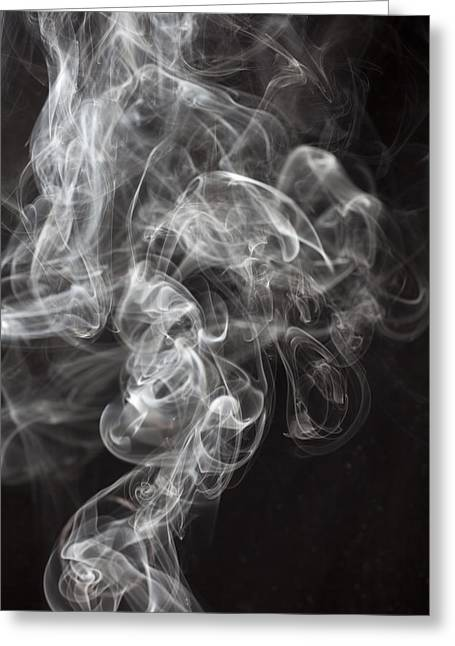 Emissions Greeting Cards - Smoke Swirls  Greeting Card by Garry Gay