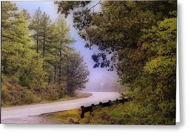 Smokey Mountain Drive Greeting Cards - Smokey Mountain Road Greeting Card by Shirley Dawson