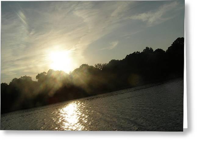 Smokey Sun Greeting Card by Brityn Klehr