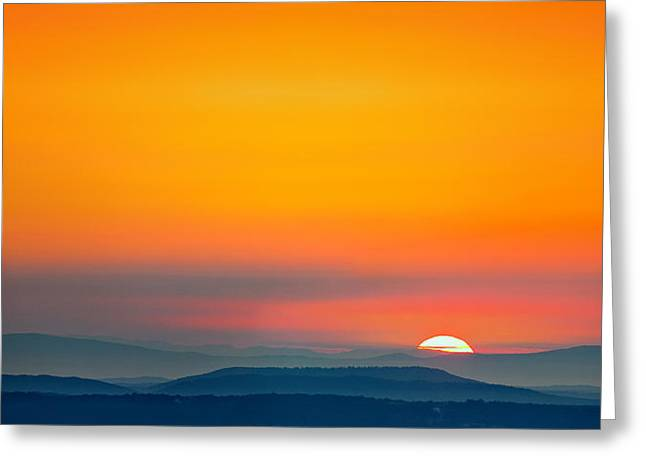 Smokie Sunrise Greeting Card by Steven Llorca