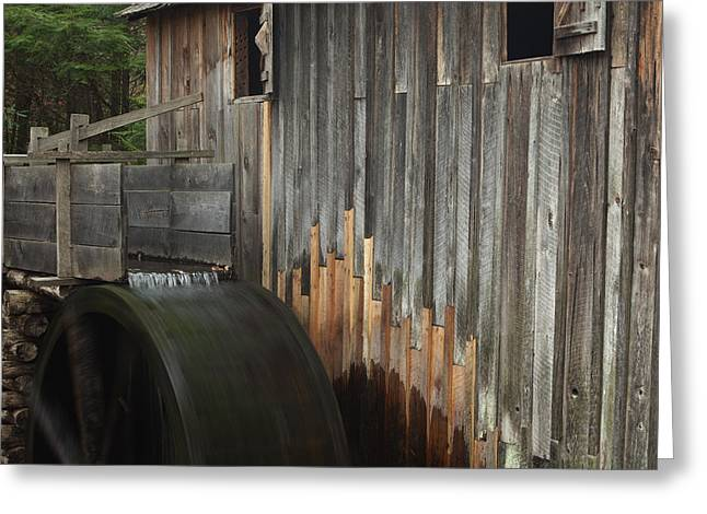 Grist Mill Greeting Cards - Smokies Mill Greeting Card by Andrew Soundarajan