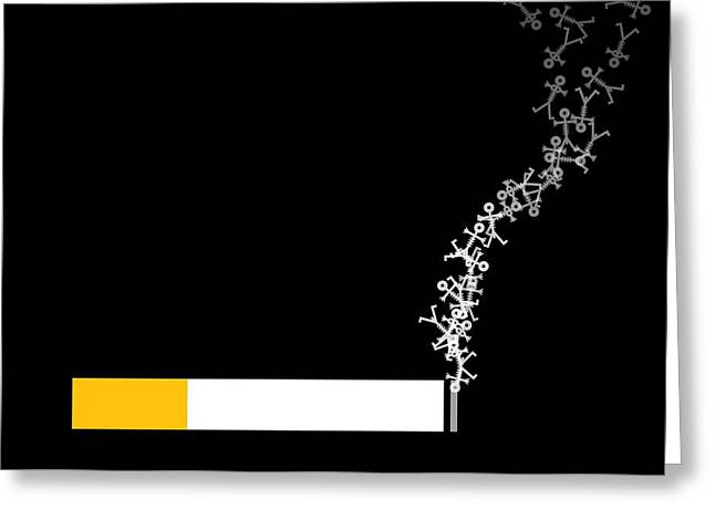 Carcinogenic Greeting Cards - Smoking, Conceptual Artwork Greeting Card by Thisisnotme