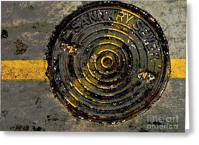 Manhole Greeting Cards - Smoking Stinks Greeting Card by Joe Jake Pratt