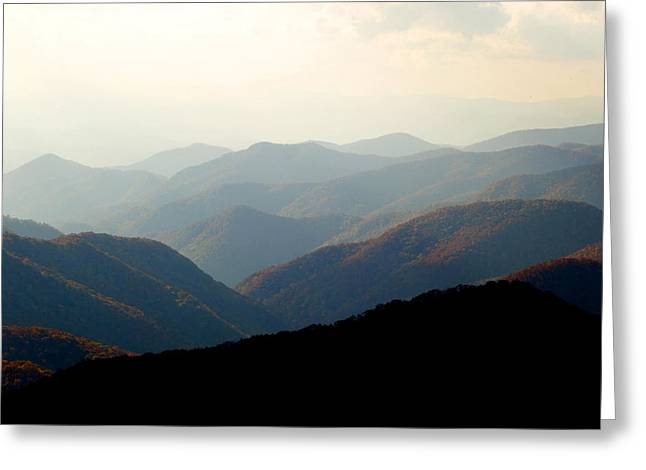 Smoky Mountain Overlook Great Smoky Mountains Greeting Card by Rich Franco
