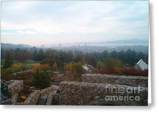 Grove Park Inn Greeting Cards - Smoky Mountain Overlook Greeting Card by Terry Hunt