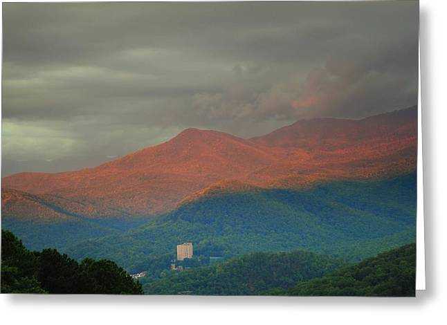Smoky Mountain Way Greeting Card by Frozen in Time Fine Art Photography