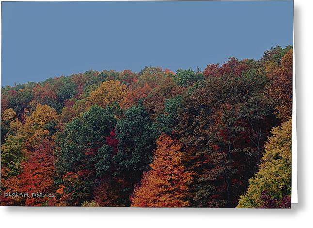 Smoky Digital Art Greeting Cards - Smoky Mountains in Autumn Greeting Card by DigiArt Diaries by Vicky B Fuller