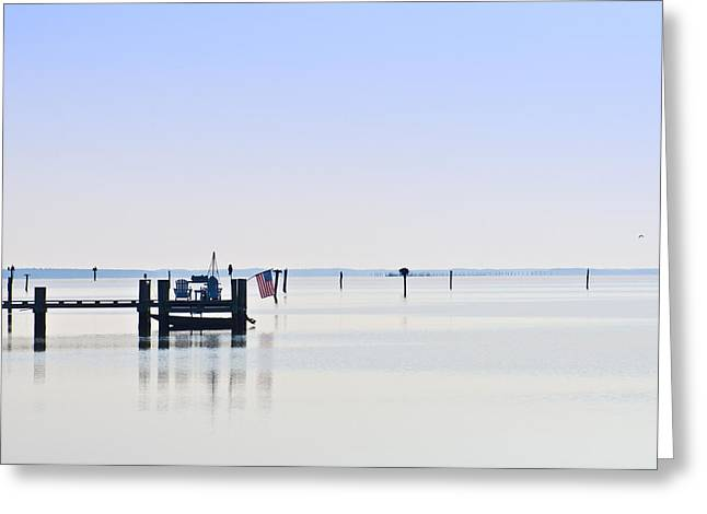 Smooth As Glass Greeting Card by Bill Cannon