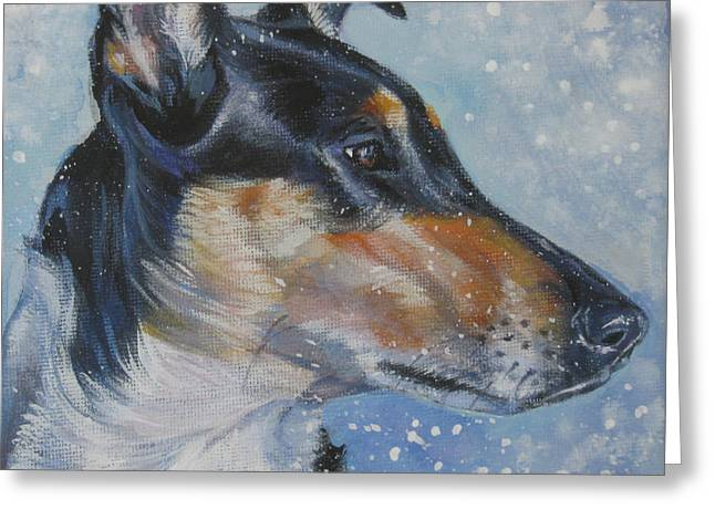 Collie Greeting Cards - Smooth Collie Greeting Card by Lee Ann Shepard