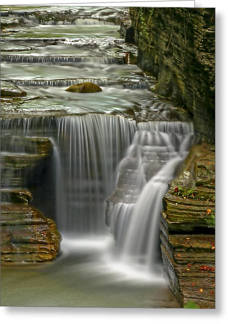 Ithaca Photographs Greeting Cards - Smooth Greeting Card by Evelina Kremsdorf