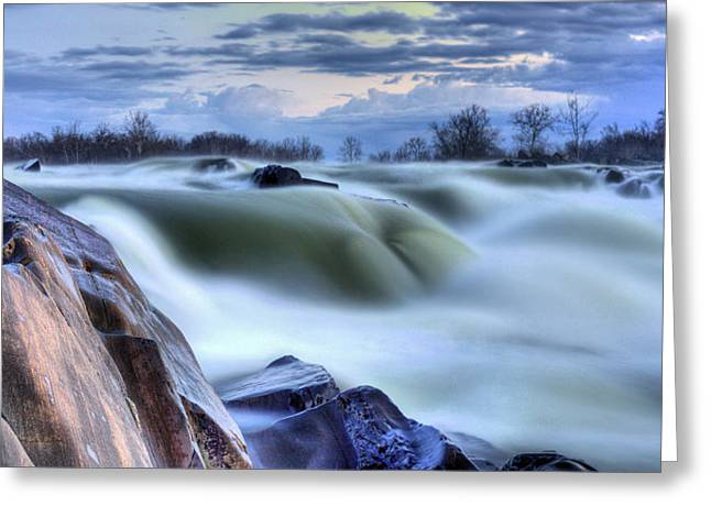 """great Falls"" Greeting Cards - Smooth Greeting Card by JC Findley"