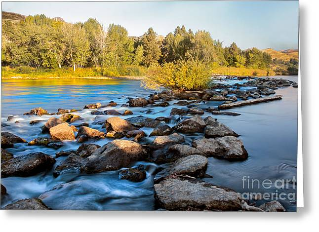 Idaho Photography Greeting Cards - Smooth Rapids Greeting Card by Robert Bales