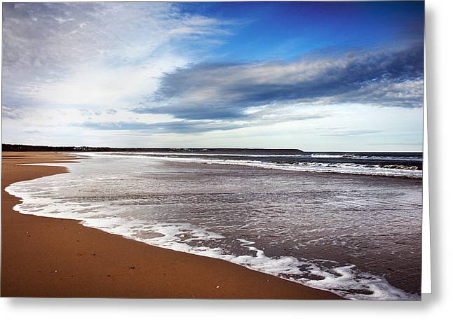 Smooth Wave Greeting Card by Svetlana Sewell